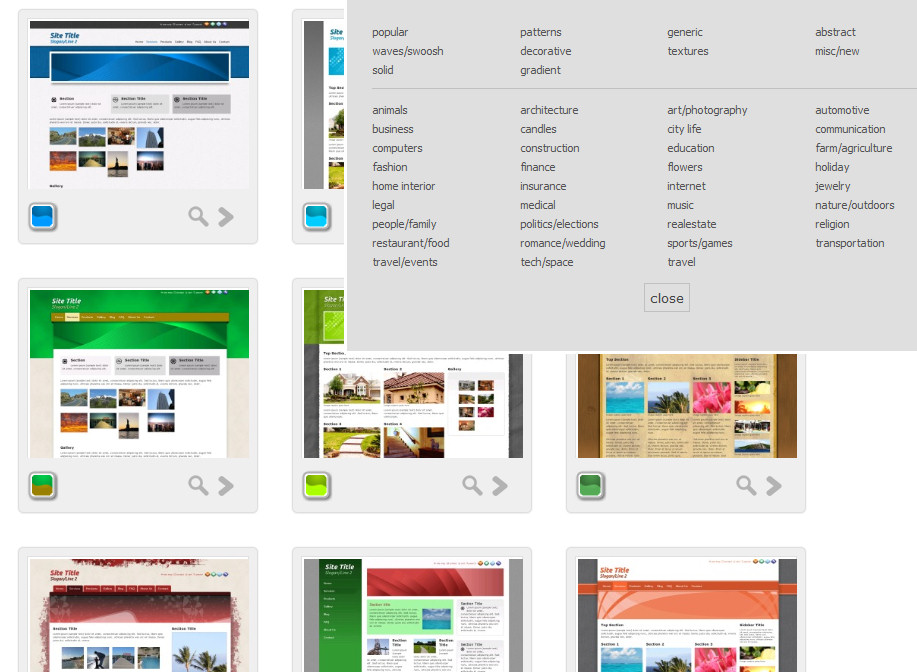 Design layouts to make your own website